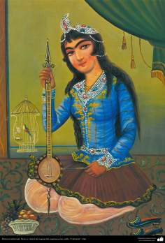 Traditional Painting, fresh and mural of popular persian inspiration- Cafe Style - 5