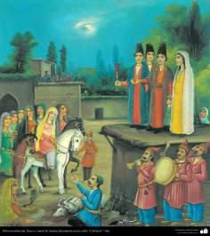Pintura tradicional, fresco y mural de inspiración popular persa, estilo Cafetería - 18