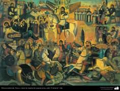 """Pintura tradicional, fresco y mural de inspiración popular persa, estilo """"Cafetería"""" - 26"""