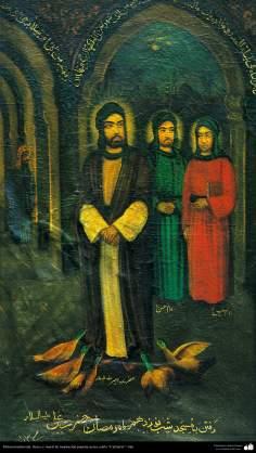 Pintura tradicional, fresco y mural de inspiración popular persa, estilo Cafetería - 12