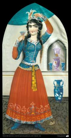 """Pintura tradicional, fresco y mural de inspiración popular persa, estilo """"Cafetería"""" - 6"""