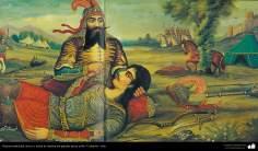 Pintura tradicional, fresco y mural de inspiración popular persa, estilo Cafetería - 2