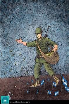 Piantare il terrorismo del sionismo (caricatura)
