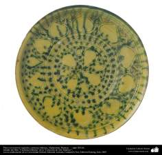 イスラム美術 - イスラム陶器やセラミックス - 対照的なデザインで装飾された物 - アフガニスタン、バーミヤン - 13世紀 - 37