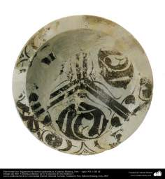 Islamic pottery - Fragments bowl with geometric motifs - Syria - XII and XIII centuries AD. (77)