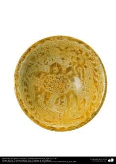 Plato hondo con motivos zoomorfos– cerámica islámica de Irak –siglo IX y X dC.
