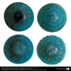 イスラム美術 - イスラム陶器やセラミックス - 左右対称のデザインで装飾されたボウル - アフガニスタン、バーミヤン - 12世紀後半 - 32