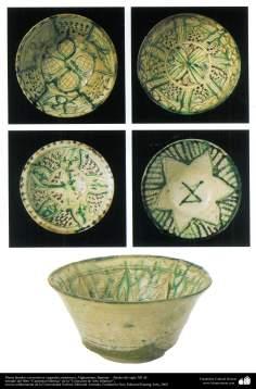 Platos hondos con motivos vegetales simétricos; Afghanistan, Bamian –  finales del siglo XII dC. (37)