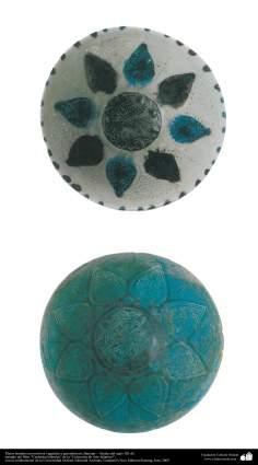 Pratos fundo com motivos vegetais e geométricos; Bamian –  final do século XII d.C. (23)