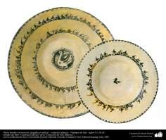 Arte islamica-Terracotta e Ceramica allo stile islamico-I piatti con calligrafia Kufi-Neishabur(Iran)-X e XI secolo d.C