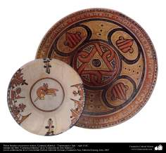 Platos hondos con motivos mixtos. Cerámica islámica – Transoxiana o Irán – siglo X dC.