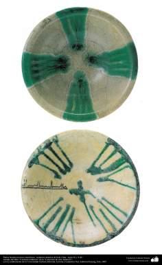 Platos hondos motivos simétricos– cerámica islámica de Irak e Irán –siglo IX y X dC.