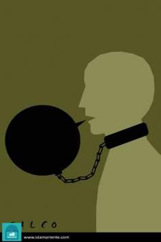 Prisionero de la palabra (caricatura)