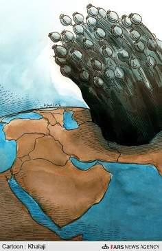 2013年のアフガニスタンのアヘンの6000トンの生産(漫画)