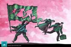 Produciendo refugiados (Caricatura)