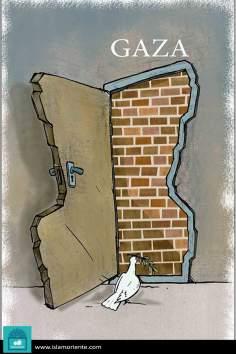 Закрытая дверь в мир (карикатура)