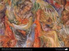 """""""Recurso (detalle)"""", 2008, Obras maestras de la miniatura persa; por Profesor Mahmud Farshchian"""