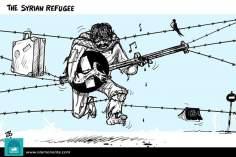 Caricatura - Refugiados