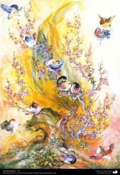rejuvenation (1977) - Persian painting (Miniature) - by Prof. M. Farshchian