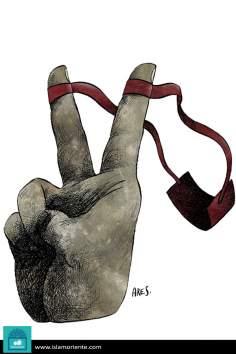 Caricatura - Resistência versão palestina