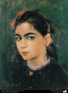 """Portrait"" (1986) - Realistic Painting;Oil on Paper Artist: Prof. Morteza Katuzian, Irán (3)"