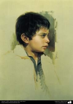 """Art islamique - peinture à l'huile sur toile - artiste: M. Katouzian -""""Portrait"""" -1995-5"""
