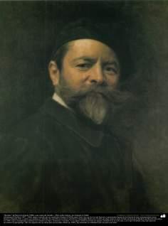 """""""Retrato"""" de Ben Zur (hacia 1900), una copia de estudio - por Kamal ol-Molk"""