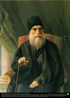 """""""Retrato"""" de Reza Jan Qayar - Óleo sobre lienzo; Pintura de Kamal ol-Molk"""