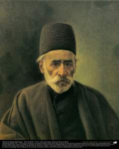 Portrait of Mohammad Hossein (Zoka Ol-Molk) ,1913 - Oil on canvas - Artist: Kamal ol-Molk