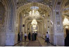 Architettura islamica-Ravaq di Darol-Hedayat -Vista del santuario di Imam Reza(P)-Mashhad in Iran-65