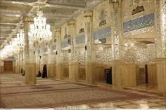 イスラム建築(ラザヴィー・ホラーサーン州のマシュハド市におけるイマム・レザ聖廟のDaralhajjehポルティコからの眺め)-77