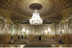イスラム建築(ラザヴィー・ホラーサーン州のマシュハド市におけるイマム・レザ聖廟のDaralhajjehポルティコからの眺め)-78