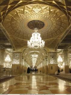 Outra foto que mostra a beleza da Sala Dar al-Huyyah (Casa da prova de Deus), no interior do Santuário Imam Rida (AS) - Mashad Irã