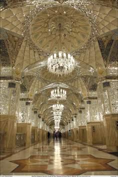 A magnifica Sala Dar al-Huyyah (Casa da prova de Deus), interior do Santuário do Imam Rida (AS) - Mashad Irã