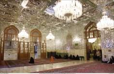 المعماریة الإسلامية - رواق دارالعباده - منظر من الضريح المقدس للإمام الرضا (ع) - قدس رضوي في المدينة المقدسة مشهد، إيران - 88