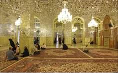 イスラム建築(ラザヴィー・ホラーサーン州のマシュハド市におけるイマム・レザ聖廟のDaralZahedポルティコからの眺め)-76