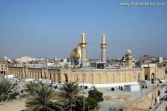 イスラム建築(イラクのカルバラ市におけるアボルファズル師の聖廟からの眺め)-15