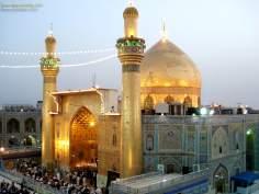 Luzes iluminando o Santuário do Imam Ali (AS)