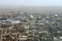 شہر نجف میں حضرت علی (ع) کے روضہ کا فضائی منظر، عراق - ۲۱