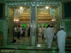 شہر نجف میں حضرت علی(ع) کے مزار کی ضریح مبارک، عراق - ۱۲