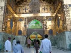Einer der Toren des heiligen Schreins Imam Ali's in Nadschaf - Irak - Foto
