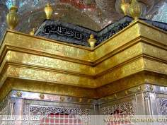 Holy Tomb of Imam Hussein - Gold design on the top
