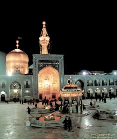 Islamic Architecture - Night view of the Shrine of Imam Reda (as) in the city of Mashhad - 32