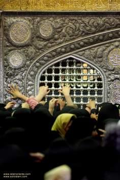 Vista de uma pequena parte do mausoléu do Imam Reda (AS)