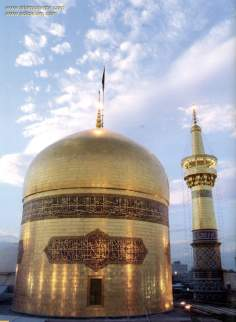 Golden Dome of Imam Reza's Holy Shrine, in the city of Mashhad - Iran