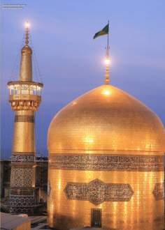 Die große goldene Kuppel im heiligen Schrein Imam Reza's, Mashhad - Iran - Die Stadt Maschhad in Iran - Imam Reza - Foto