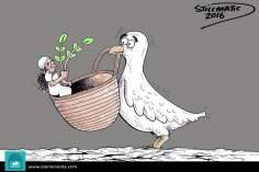 Sembrando la paz (Caricatura)