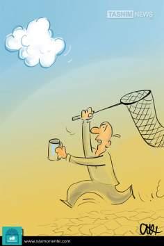 Siccità (2) - (caricatura)