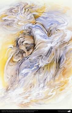 الفن الإسلامي - روائع المنمنمة الفارسية - استاذ محمود فرشچیان - بلا عنوان - ایران - 71
