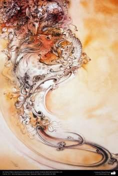 الفن الإسلامي - روائع المنمنمة الفارسية - استاذ محمود فرشچیان - بلا عنوان - إيران - 73